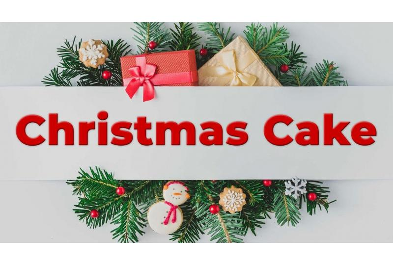 Christmas Cake Holiday Banner with Text preview