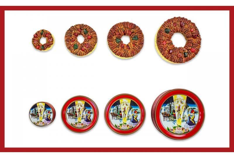 DeLuxe® Fruitcake Sizing Guide Infographic