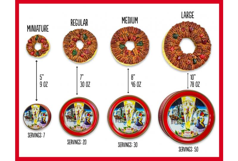 DeLuxe® Fruitcakes Overhead Sizing Guide Preview Image