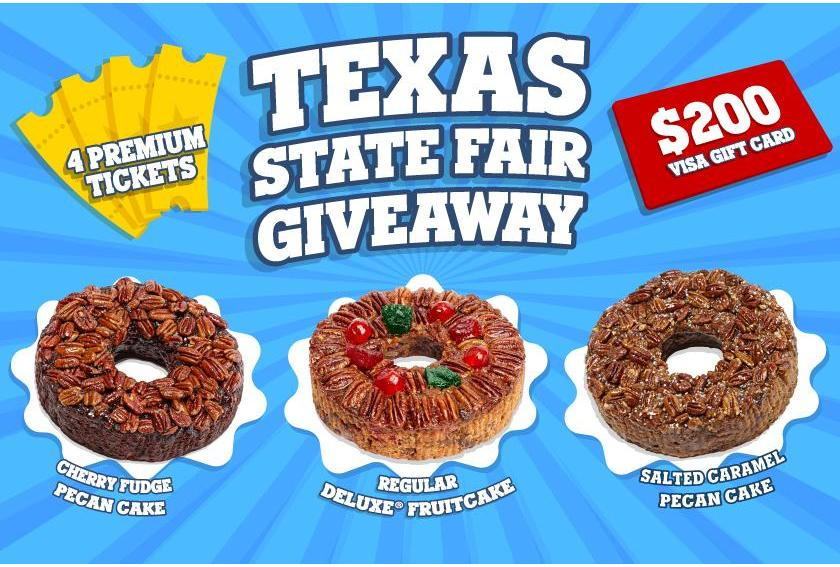 Texas State Fair Giveaway Contest Prizes Graphic