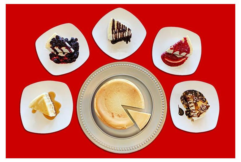 Cheesecake Toppings Product Display