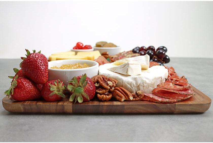 DeLuxe Fruitcake Fruit Meat Cheese Charcuterie Board