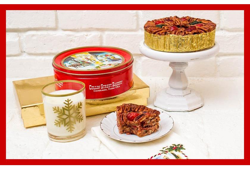 DeLuxe® Fruitcake & Red Tin Holiday Setting