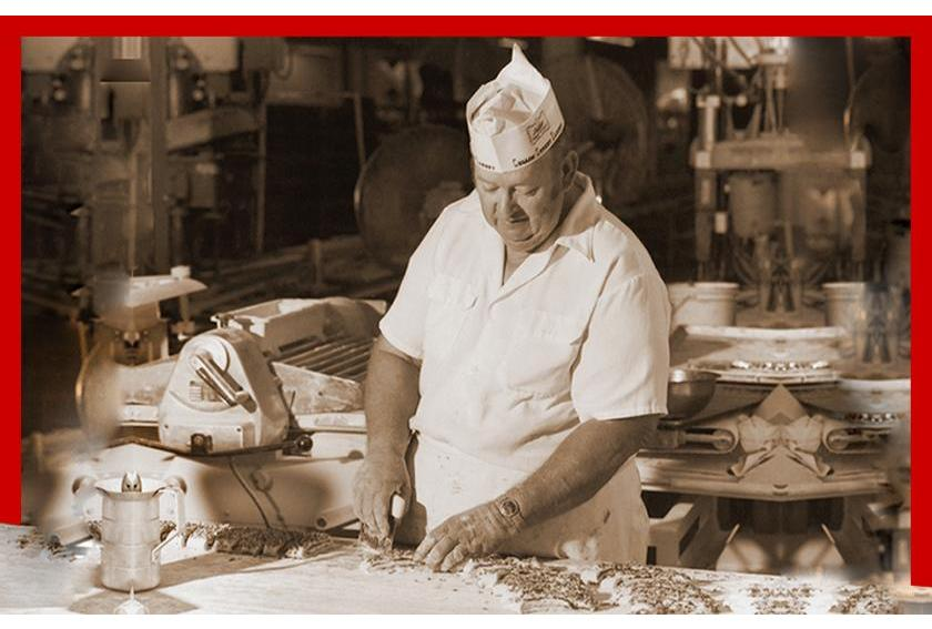 Historic Photo of A Baker at The Collin Street Bakery