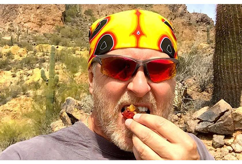 Tim Hoime Hikes Grand Canyon with Fruitcake