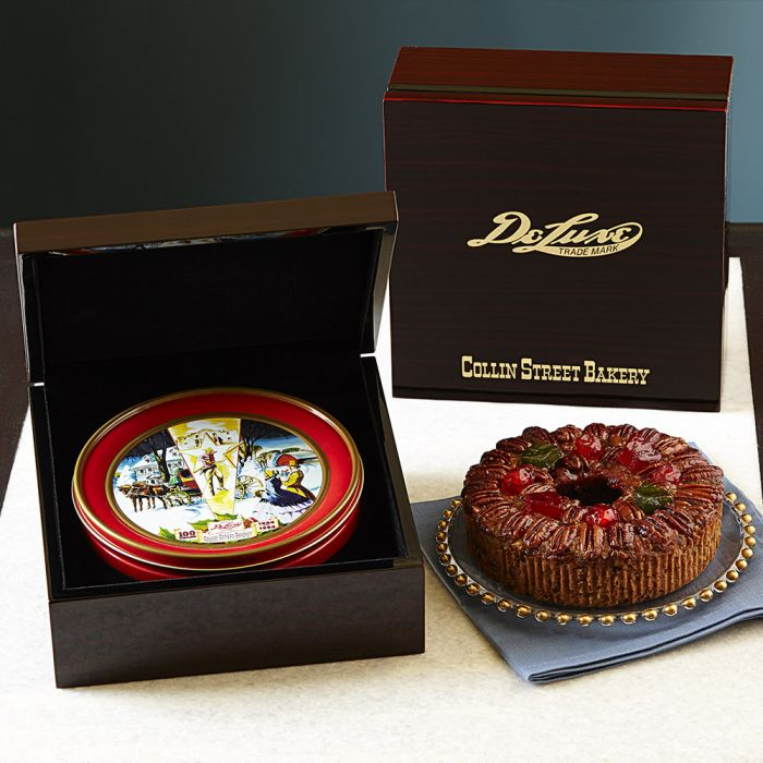 DeLuxe® Fruitcake in Mahogany Style Box