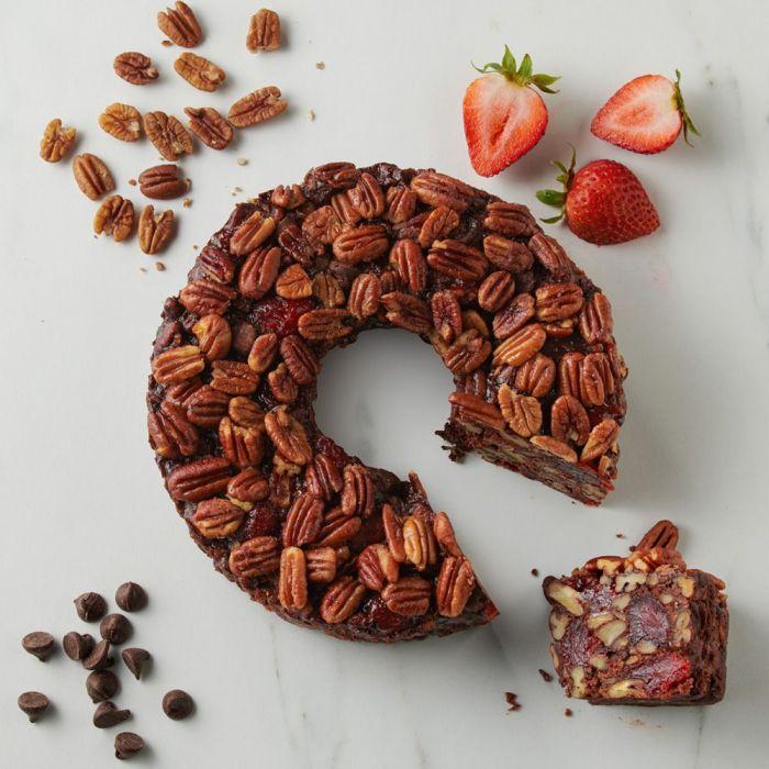 Strawberry Fudge Pecan Cake