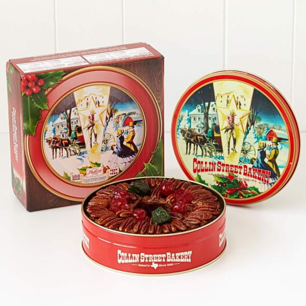 DeLuxe® Fruitcake in Red Holly Gift Box