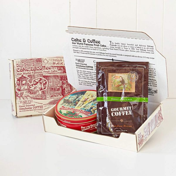 DeLuxe® Fruitcake & Coffee Gift Set