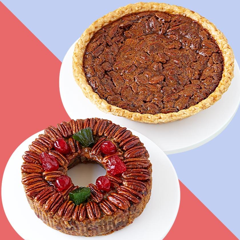 DeLuxe® Fruitcake & Pecan Pie Bundle